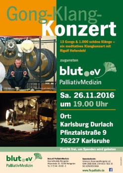 Meditatives Gong-Klang Konzert am 26.11.2016