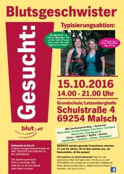 Typisierungsaktion in Malsch bei Heidelberg