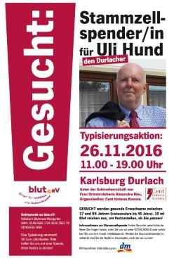 Typisierungsaktion in Durlach