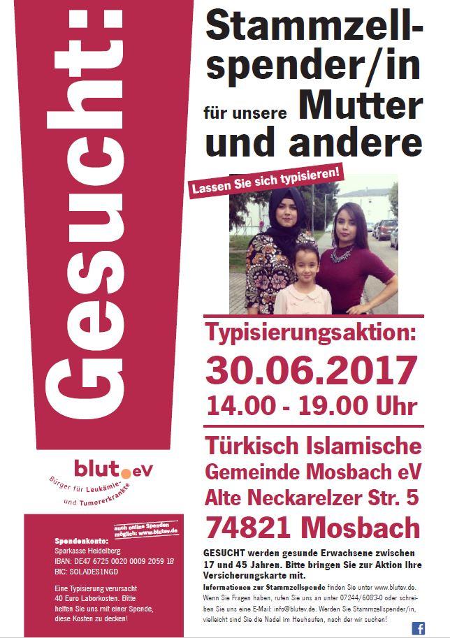Stammzellspender für unsere Mutter in Mosbach gesucht!