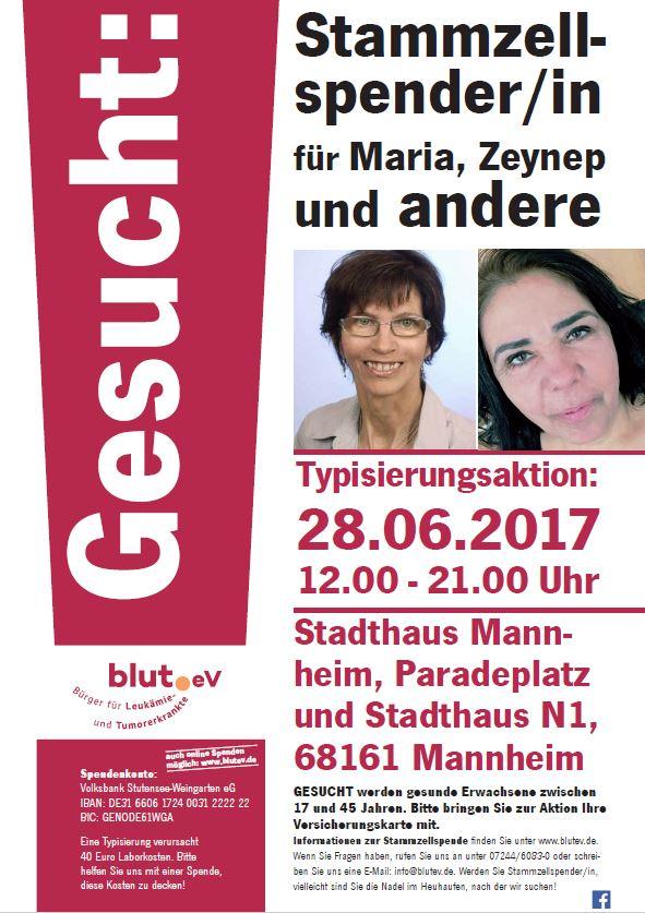 Stadt Mannheim hilft bei der Suche nach neuen Stammzellspendern