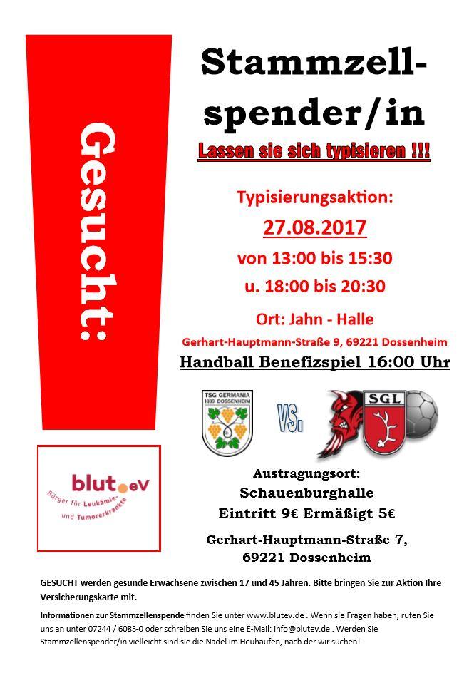 Spender werden bei Handball Benefizspiel