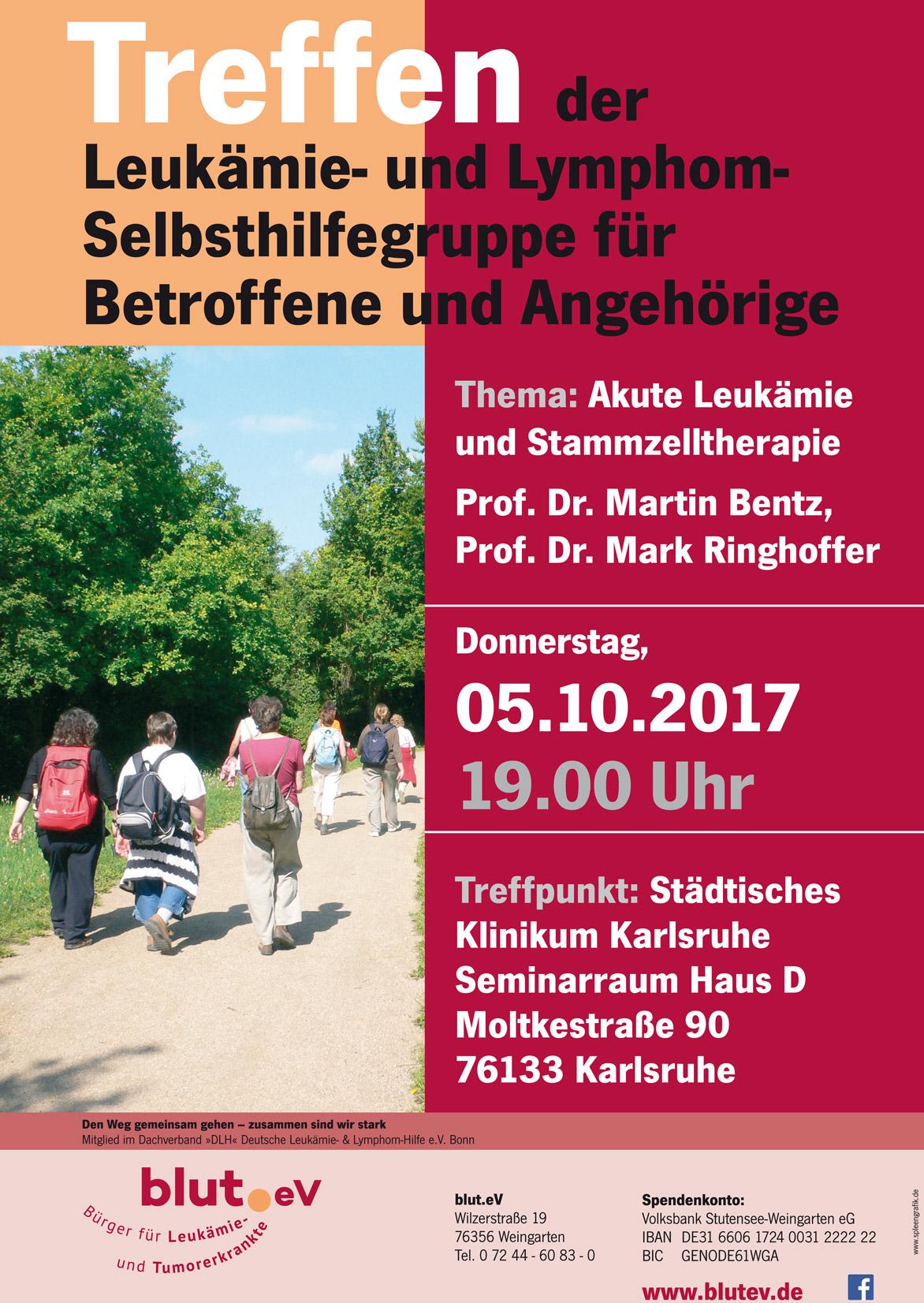 Treffen Leukämie- und Lymphom Selbsthilfegruppe im Klinikum Karlsruhe