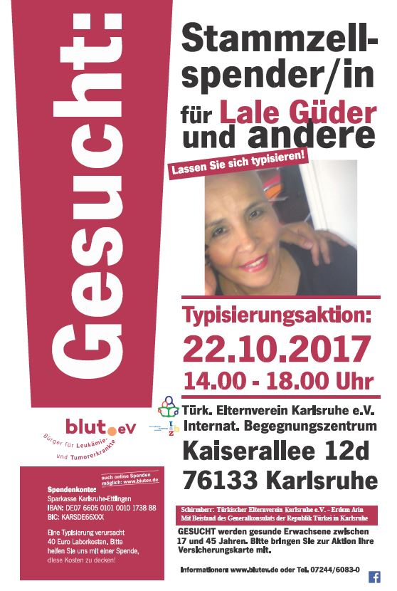 Lale Güder aus Karlsruhe sucht dringend einen Stammzellspender