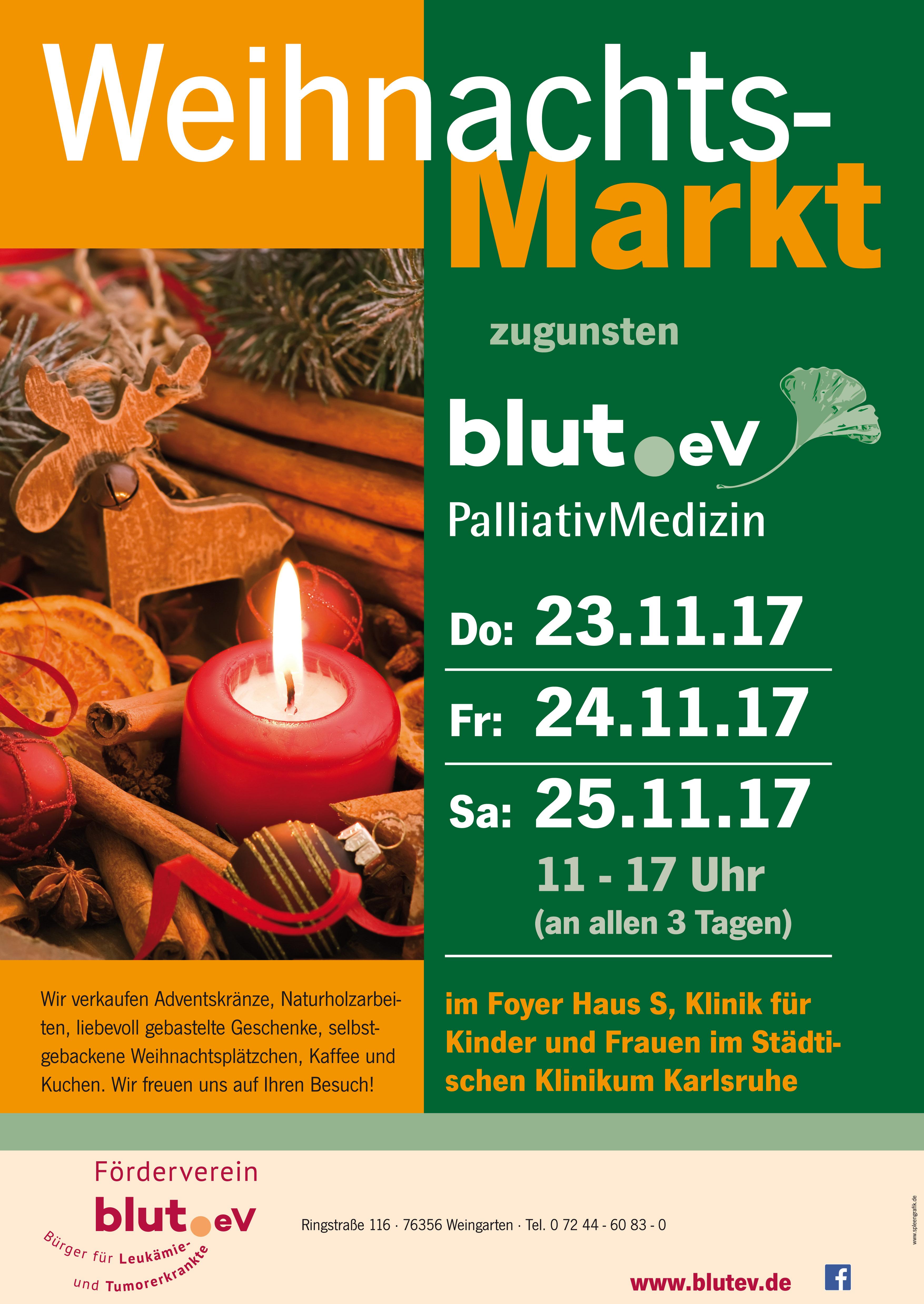 Weihnachtsmarkt am Städtischen Klinikum Karlsruhe, Haus S