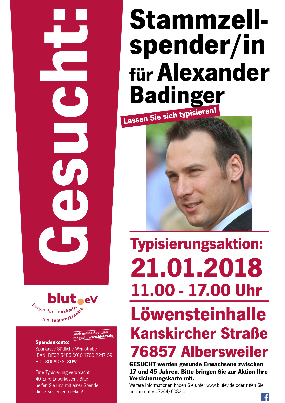 Hilfe für Alexander Badinger