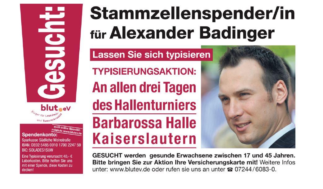 Typisierung bei den Stadtmeisterschaften in Kaiserslautern