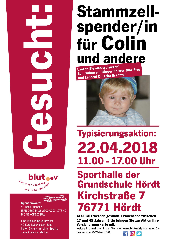Stammzellspender für Colin gesucht!