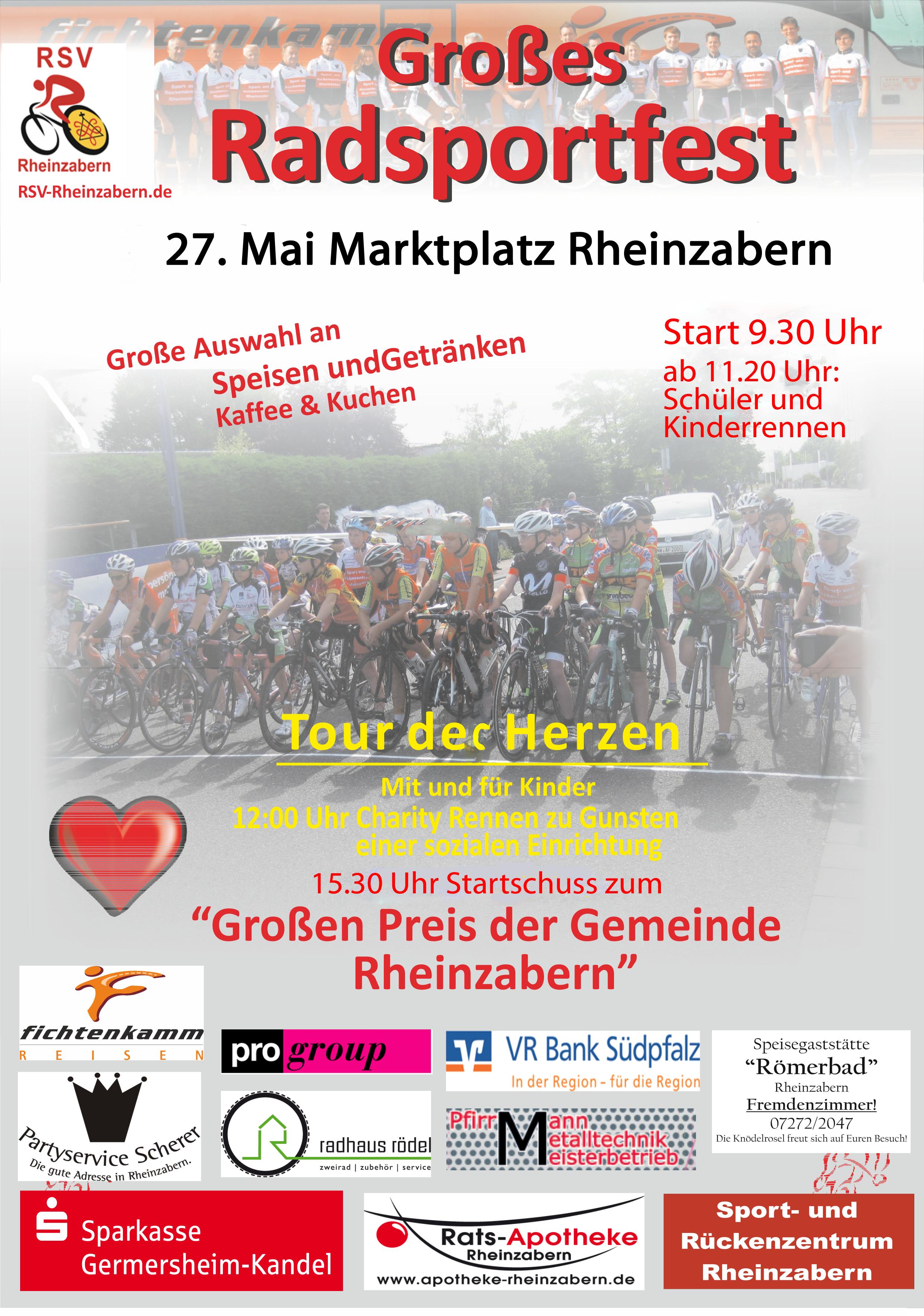 Charity Radrennen 27. Mai Marktplatz Rheinzabern