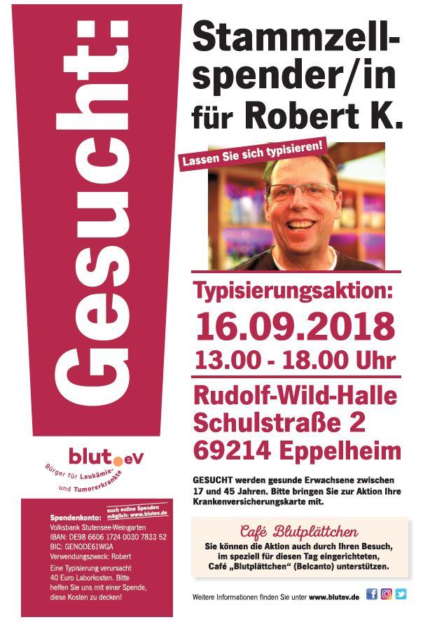Stammzellspender für Robert aus Eppelheim gesucht!