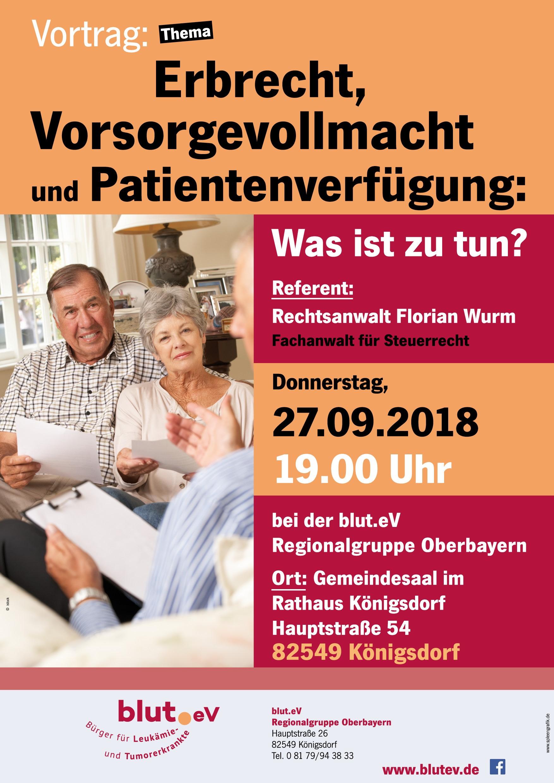 Vortrag bei der blut.eV Regionalgruppe Oberbayern
