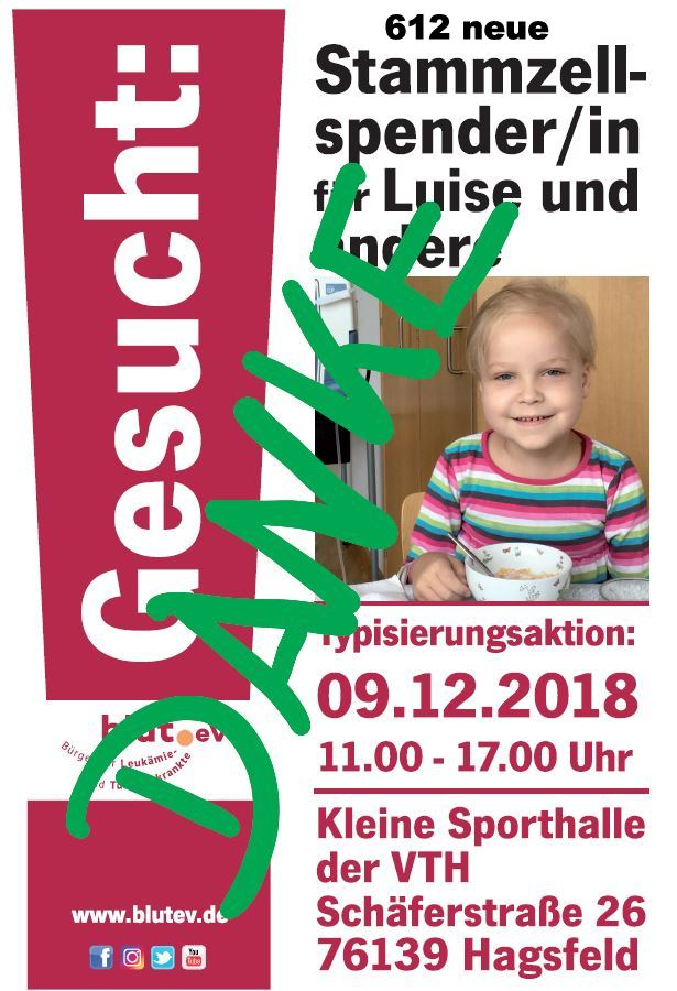 """Die 6-jährige Luise aus Hagsfeld sucht ihren """"Lebensretter"""""""