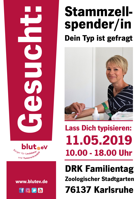 Werde Stammzellspender beim DRK Familientag im Stadtgarten Karlsruhe