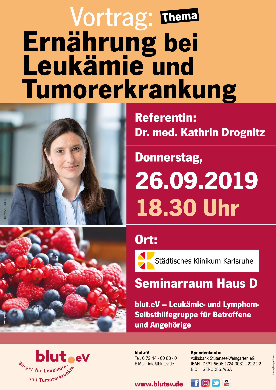 Vortrag: Ernährung bei Leukämie und Tumorerkrankung