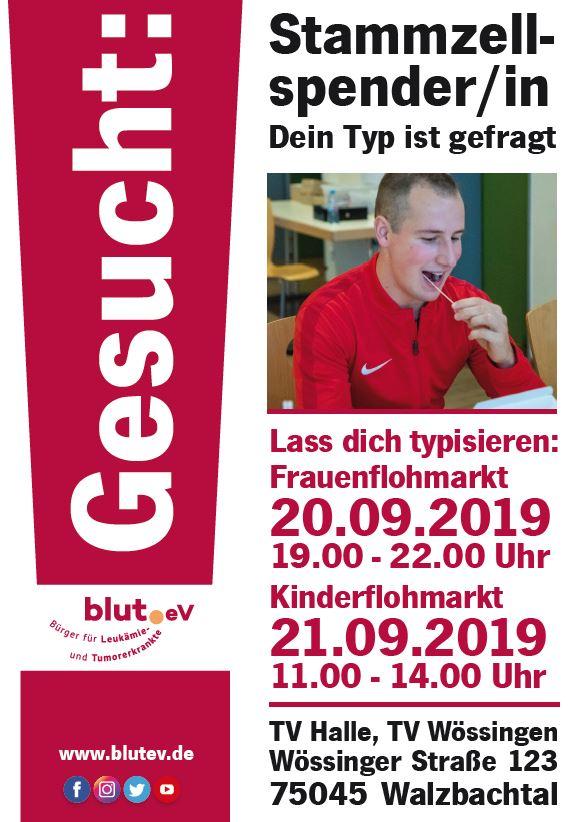 Stammzellspender werden bei Flohmarkt in Walzbachtal