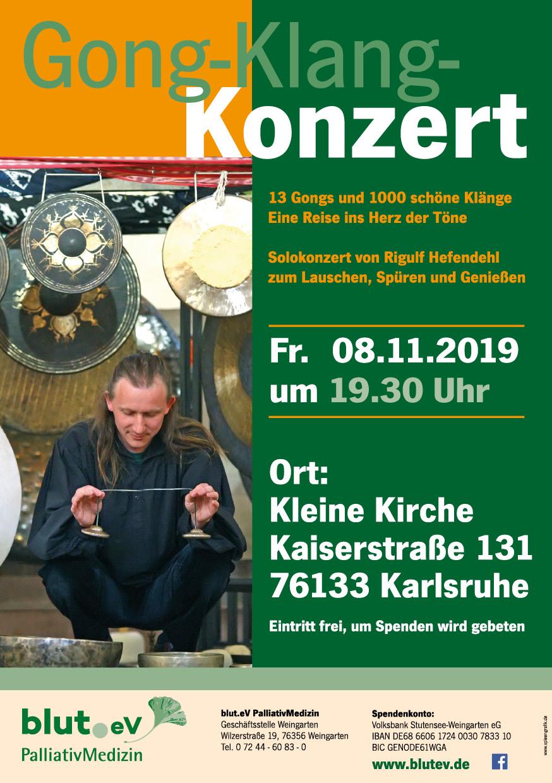 Gong-Klang Konzert mit Rigulf Hefendehl