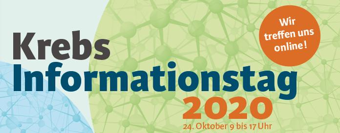 Krebs-Informationstag am 24.10.2020 in München – Wir treffen uns im Internet!