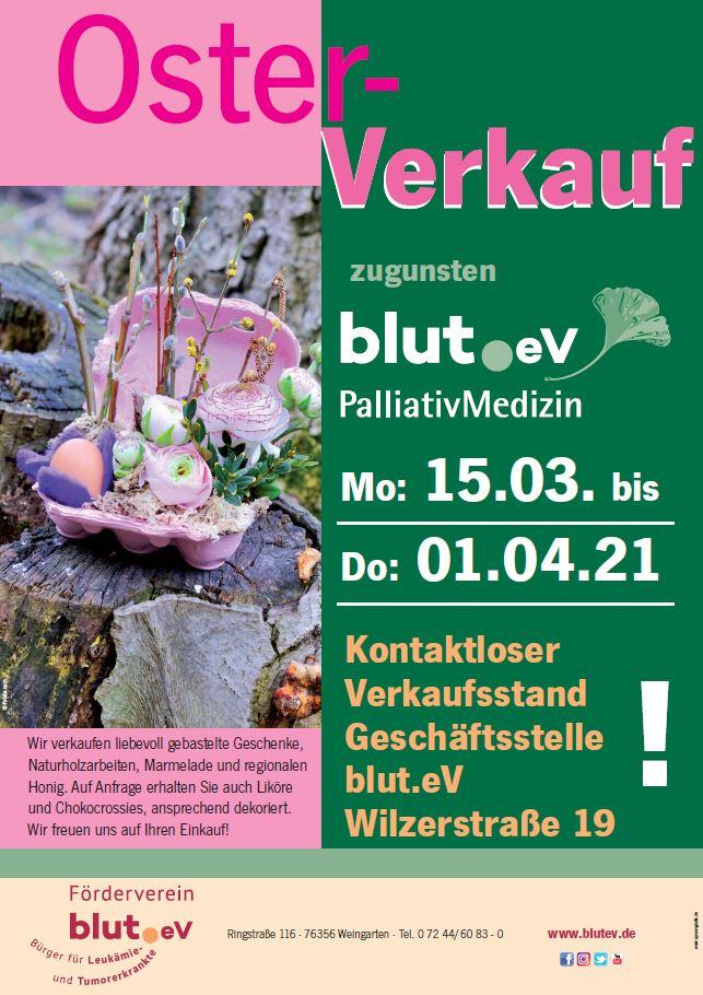 Kontaktloser Osterverkauf bei blut.eV