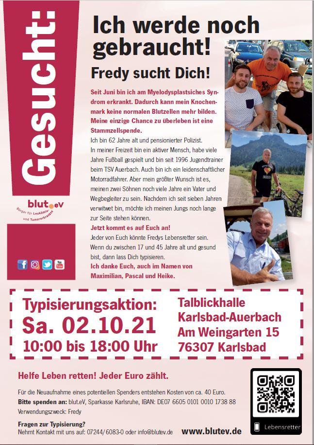Spender werden für Fredy und andere!
